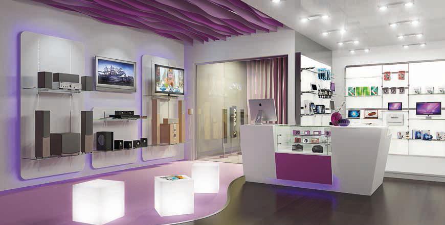 Arredi per negozi di informatica scaffali espositori for Arredi per alberghi e hotel