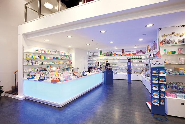 Arredamento farmacie e parafarmacie progettazione for Arredamenti per farmacie
